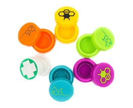 THCONTAINERS Silicone jars bee design